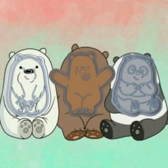 Download 3D printing designs WE BARE BEARS X3 COOKIE CUTTER, KDASH
