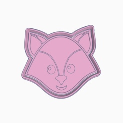 Dazzling Bigery.png Download STL file FOX NORDIC ANIMAL COOKIE CUTTER • Object to 3D print, KDASH