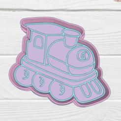 Download STL TRAIN COOKIE CUTTER, KDASH