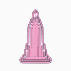 Sizzling Crift.png Download STL file EMPIRE STATE BUILDING COOKIE CUTTER • 3D printer design, KDASH