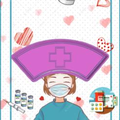 Stunning Hillar-gorro.png Download STL file DOCTOR HOSPITAL HAT COOKIE CUTTER • 3D printable template, KDASH
