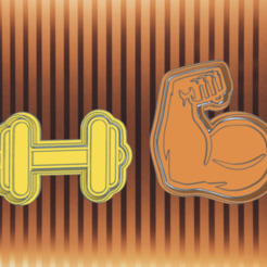 Brilliant Bombul (1)_large.png Download STL file GYM ARM AND WEIGHT COOKIE CUTTER • 3D printer model, KDASH