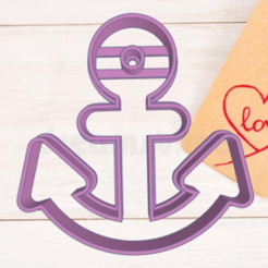 Download 3D printing templates ANCHOR BOAT COOKIE CUTTER, KDASH