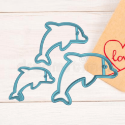 Download STL file DOLPHIN COOKIE CUTTER, KDASH
