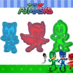 Shiny da.png Télécharger fichier STL PJ MASK KIT X3 COOKIE CUTTER PACK • Plan pour imprimante 3D, KDASH