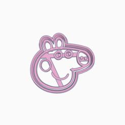 Download 3D printer designs PEPPA PIG HEAD COOKIE CUTTER, KDASH