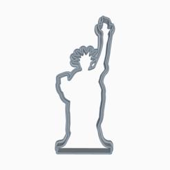 Descargar archivo 3D STATUE OF LIBERTY COOKIE CUTTER, KDASH