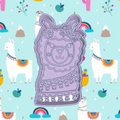 Incredible llama.png Download STL file LLAMA,ALPACA COOKIE CUTTER • 3D printable object, KDASH