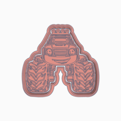 Download STL file BLAZE AND THE MONSTER MACHINES COOKIE CUTTER, KDASH
