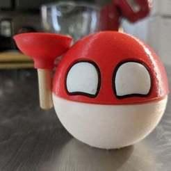 87901348_568172183794338_5321512274140069888_n.jpg Download free OBJ file Polandball • 3D printing object, countingendlessrepetition