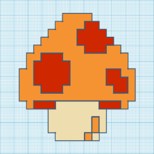 mario_muchroom.png Download free STL file Mario Mushroom • Template to 3D print, countingendlessrepetition