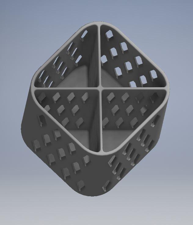 PENCIL HOLDER 1 3.JPG Download free STL file PENCIL HOLDER / POSA PENCILS • 3D printing object, ricgtena