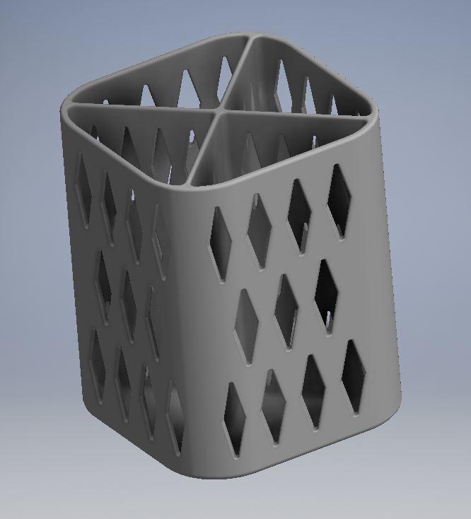PENCIL HOLDER 1 1.JPG Download free STL file PENCIL HOLDER / POSA PENCILS • 3D printing object, ricgtena