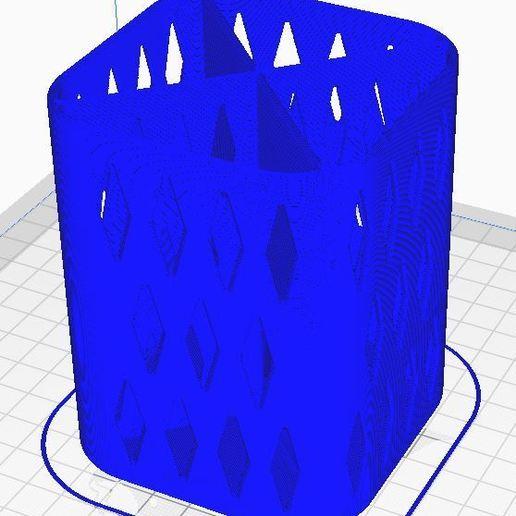 PENCIL HOLDER 1 5.JPG Download free STL file PENCIL HOLDER / POSA PENCILS • 3D printing object, ricgtena