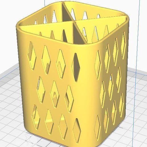 PENCIL HOLDER 1 4.JPG Download free STL file PENCIL HOLDER / POSA PENCILS • 3D printing object, ricgtena