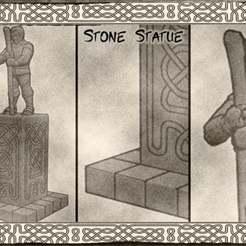 01.jpg Télécharger fichier STL gratuit Statue de pierre pour Donjons & Dragons, Warhammer Fantasy ou jeux de table. • Modèle pour impression 3D, KaerRune