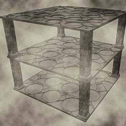 trays06.jpg Download free STL file Stackable Miniature Trays sizes include 25mm, 32mm, and 40mm for Dungeons & Dragons or Warhammer 40k • 3D printing template, KaerRune