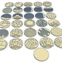 32mmx31.jpg Download free STL file 32mm Round Bases (x31) for Warhammer 40k or Dungeons & Dragons tabletop Miniatures • 3D printer object, KaerRune