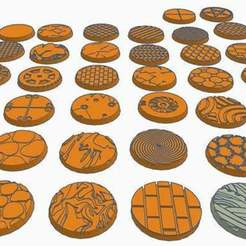 038bases.jpg Download free STL file 25mm Round Bases (x38) for Dungeons & Dragons or Wahammer 40k tabletop Miniatures • 3D printer template, KaerRune