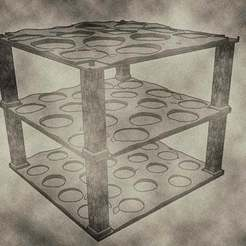 trays05.jpg Download free STL file Stackable Miniature Trays sizes include 25mm, 32mm, and 40mm for Dungeons & Dragons or Warhammer 40k • 3D printing template, KaerRune