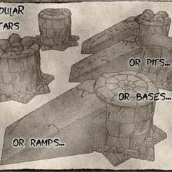 Download free STL file Modular Altars For Dungeons & Dragons, Warhammer Fantasy or tabletop games. • 3D printing model, KaerRune