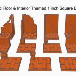 wood01.jpg Download free STL file 1 Inch Square Miniature Bases (x11) Wooden Interior Themed for Dungeons & Dragons or Warhammer 40k tabletop Miniatures • 3D print model, KaerRune