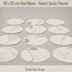 01.jpg Télécharger fichier STL 60x35mm Sandy Desert Ruins Terrain pour miniatures, montures, vélos pour Donjons & Dragons, Warhammer 40K, Gaslands et plus • Modèle imprimable en 3D, KaerRune