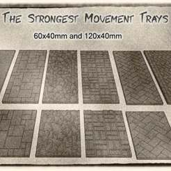 01.jpg Download free STL file To The Strongest - 120x40mm and 60x40mm Movement Trays for Units and Bases • 3D printing design, KaerRune