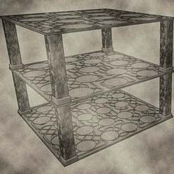 trays07.jpg Download free STL file Stackable Miniature Trays sizes include 25mm, 32mm, and 40mm for Dungeons & Dragons or Warhammer 40k • 3D printing template, KaerRune