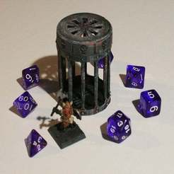 01.JPG Download STL file D&D Dice Prison III or Jail with Lid for Dungeons & Dragons, Pathfinder or other Tabletop Games • Design to 3D print, KaerRune