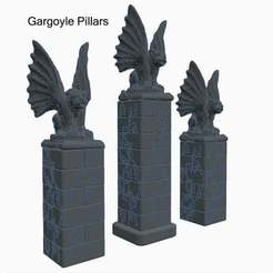 gp03.jpg Download free STL file Gargoyle Pillars for Dungeons & Dragons or Warhammer 40k Tabletop Games • 3D print object, KaerRune