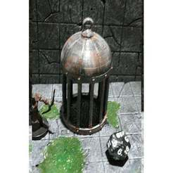 Download STL file D&D Dice Prison I or Jail with Lid for Dungeons & Dragons, Pathfinder or other Tabletop Games • 3D printable model, KaerRune