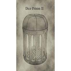 DPIIa.jpg Download STL file D&D Dice Prison II or Jail with Lid for Dungeons & Dragons, Pathfinder or other Tabletop Games • 3D printer object, KaerRune