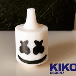 Download 3D printer designs Marshmello cachimba mouthpiece, kiko_design7
