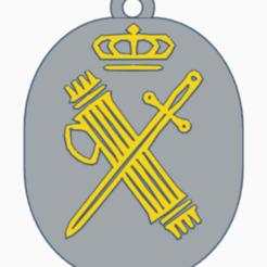 guardia civil.png Download STL file Civil Guard Spain key ring • 3D printable object, kiko_design7