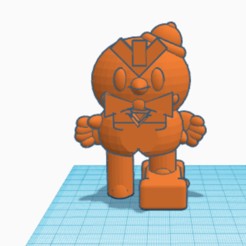 Captura de pantalla 2020-02-24 a las 16.40.16.png Download free OBJ file Mr.P Brawl Stars • 3D print template, paco_egabrum