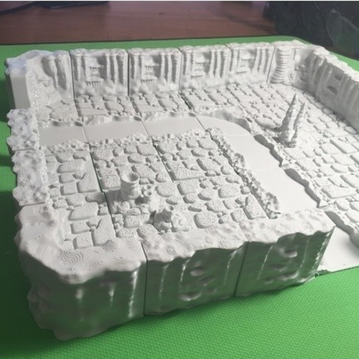 657e1f9df96e4610f1907463ccbb61d5_preview_featured.JPG Download free STL file Cavern River Tiles (Openforge 2.0 compatible) • Template to 3D print, Poxos