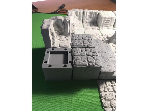 aadf9f91f53dbe363a680e16dc5b11d0_preview_featured.JPG Download free STL file Cavern Riser Blocks (Openforge 2.0 compatible) • Model to 3D print, Poxos