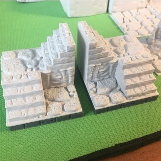 642f276559ab754d73fff81c418a8158_preview_featured.JPG Download free STL file Cavern Stairs (Openforge 2.0 compatible) • Object to 3D print, Poxos