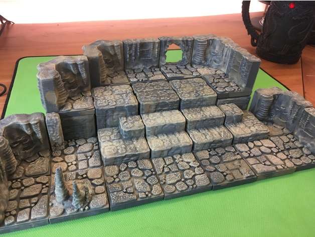 842d7de49be53a6e5f0806db64748505_preview_featured.JPG Download free STL file Cavern Riser Blocks (Openforge 2.0 compatible) • Model to 3D print, Poxos