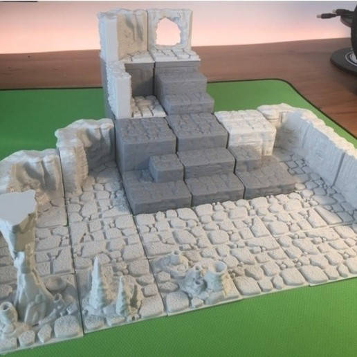 7bf302af34aa2e45995f206fcd593659_preview_featured.JPG Download free STL file Cavern Riser Blocks (Openforge 2.0 compatible) • Model to 3D print, Poxos