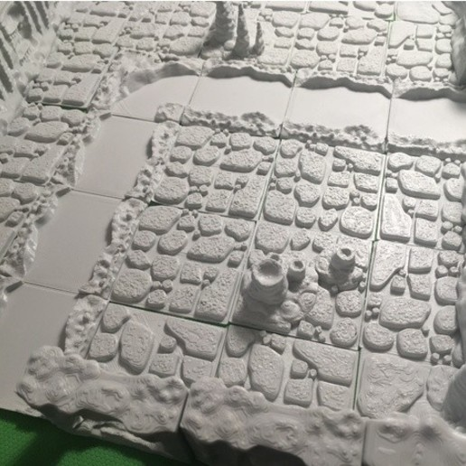 Download free 3D printing templates Cavern River Tiles (Openforge 2.0 compatible), Poxos