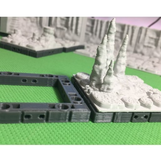 f70c67d558f213b025d569a0496eda43_preview_featured.jpg Download free STL file Cavern Tiles (Openforge 2.0 compatible) • 3D printing model, Poxos