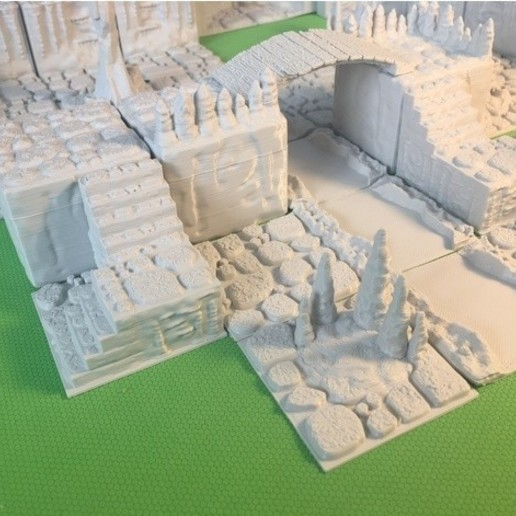 fe84d6aa9a4d0497294ee180ddc18e3f_preview_featured.JPG Download free STL file Cavern Stairs (Openforge 2.0 compatible) • Object to 3D print, Poxos