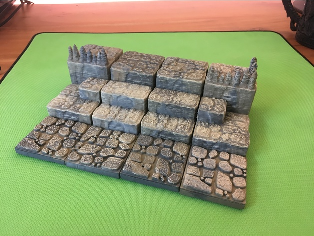22ded4498fce7478d5501df27c25bc61_preview_featured.JPG Download free STL file Cavern Ascents/ Steps (Openforge 2.0 compatible) • 3D printer object, Poxos