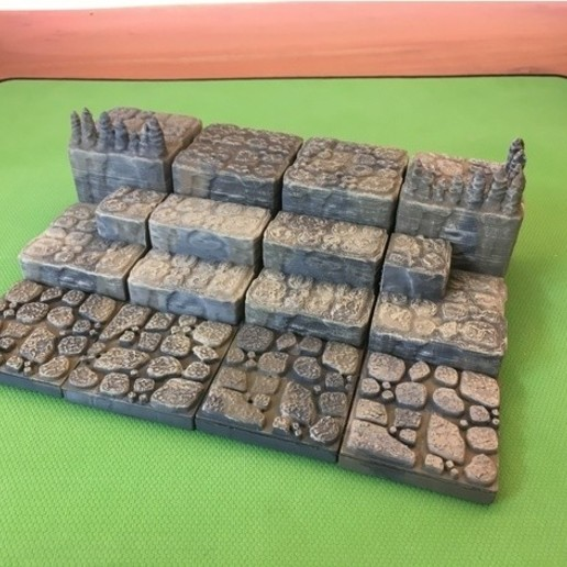 Download free 3D print files Cavern Ascents/ Steps (Openforge 2.0 compatible), Poxos
