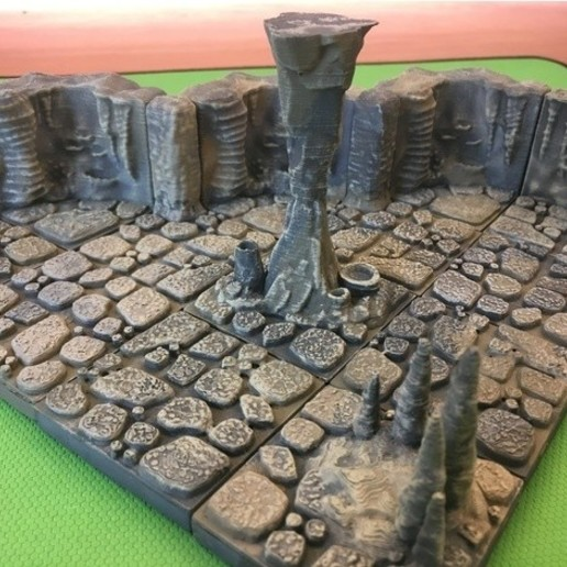 Download free 3D printing files Cavern Pillars (openforge 2.0 compatible), Poxos