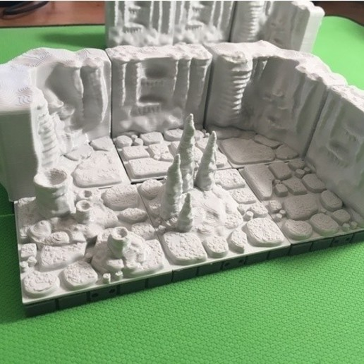 3b19e44d245cf3ffc34514939b02e76b_preview_featured.JPG Download free STL file Cavern Tiles (Openforge 2.0 compatible) • 3D printing model, Poxos