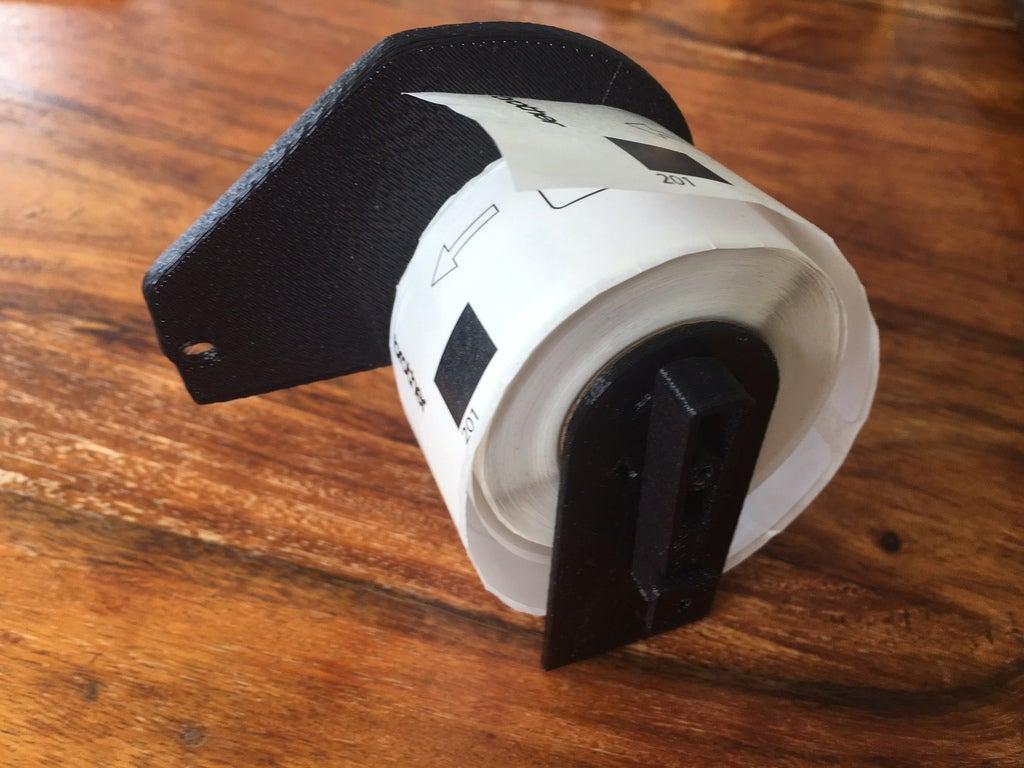 spool3_display_large.JPG Télécharger fichier STL gratuit Bobine d'imprimante Brother Label DK • Design pour imprimante 3D, Oggie