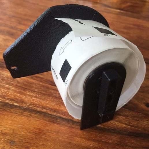 Télécharger objet 3D gratuit Bobine d'imprimante Brother Label DK, Oggie
